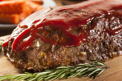 Homemade Ground Beef Meatloaf Royalty Free Stock Photography