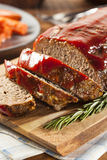 Homemade Ground Beef Meatloaf Stock Image
