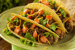 Homemade Ground Beef Tacos Stock Photography