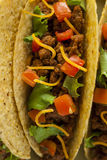 Homemade Ground Beef Tacos Royalty Free Stock Photography