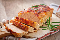 Homemade ground meatloaf Royalty Free Stock Photo