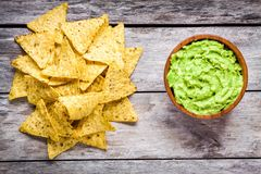 More similar stock images of ` Homemade guacamole with corn chips top ...