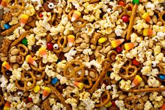 Free Homemade Halloween Trail Mix With Popcorn, Pretzels And Nuts Stock Photos - 101200823