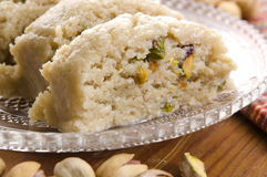 Homemade Halvah with Pistachio Royalty Free Stock Photo