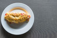 Homemade Ham and Cheese Omelette. For breakfast Royalty Free Stock Photos