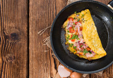 Homemade Ham and Cheese Omelette Royalty Free Stock Photo