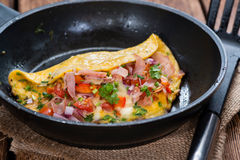 Homemade Ham and Cheese Omelette Royalty Free Stock Photography