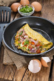 Homemade Ham and Cheese Omelette Royalty Free Stock Photos