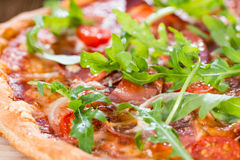Homemade Ham Pizza Royalty Free Stock Image