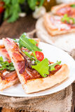Homemade Ham Pizza (slices) Royalty Free Stock Image