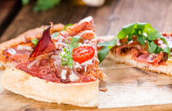 Homemade Ham Pizza (slices) Royalty Free Stock Photography