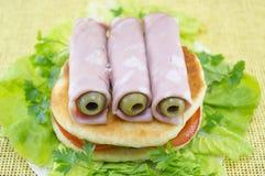 Homemade ham sandwich Stock Photos