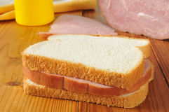 Homemade ham sandwich Royalty Free Stock Image