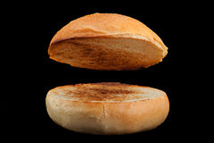 Homemade hamburger bun Royalty Free Stock Photo