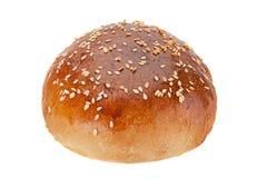 Homemade hamburger bun with sesame seeds Royalty Free Stock Images