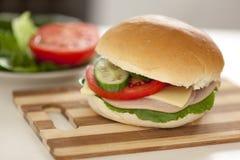 Homemade hamburger Stock Image
