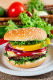 Homemade hamburger Royalty Free Stock Photography