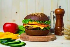 Homemade hamburger with fresh vegetables Stock Image