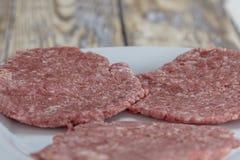 Homemade hamburger patties Stock Photography