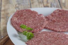 Homemade hamburger patties Royalty Free Stock Image