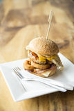 Homemade hamburger Stock Photography
