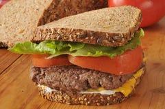 Homemade hamburger sandwich Stock Photos