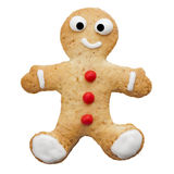 Homemade Happy Human Shaped Biscuit Isolated Royalty Free Stock Photography