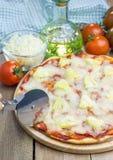 Homemade Hawaii pizza Stock Photos