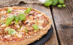 Homemade Hawaiian Pizza Stock Photography