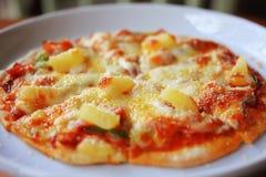 Homemade hawaiian pizza Stock Image