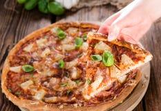 Homemade Hawaiian Pizza (slices) Stock Photography