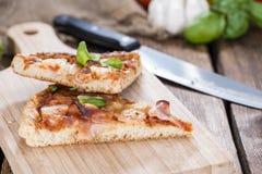 Homemade Hawaiian Pizza (slices) Stock Photo