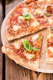 Homemade Hawaiian Pizza (slices) Royalty Free Stock Photos