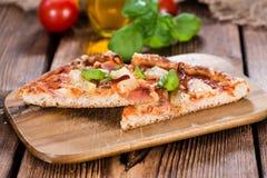 Homemade Hawaiian Pizza (slices) Stock Images