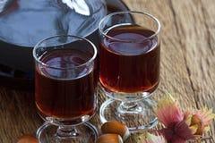 Homemade Hazelnut liqueur Royalty Free Stock Photos