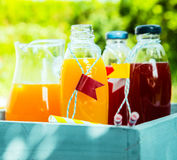 Homemade healthy fresh orange and berry juice Stock Photo