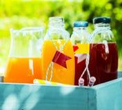 Homemade healthy fresh orange and berry juice Stock Photo
