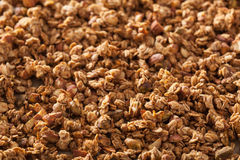 Homemade healthy granola on backing paper background Royalty Free Stock Photos