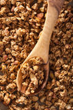 Homemade healthy granola on backing paper background Stock Image