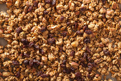 Homemade healthy granola on backing paper background Royalty Free Stock Photo