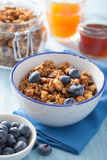 Homemade healthy granola in bowl for breakfast Royalty Free Stock Photography