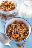 Homemade healthy granola in bowl for breakfast Royalty Free Stock Photo