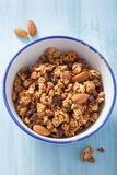 Homemade healthy granola in bowl for breakfast Stock Photos