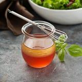Homemade healthy salad dressing Stock Photo