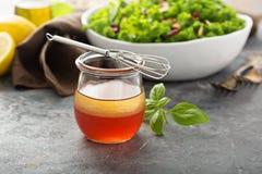 Homemade healthy salad dressing Stock Photos