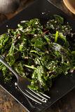 Homemade Healthy Sauteed Swiss Chard Stock Photo