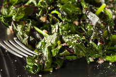 Homemade Healthy Sauteed Swiss Chard Royalty Free Stock Photos