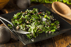 Homemade Healthy Sauteed Swiss Chard Stock Photography