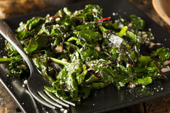 Homemade Healthy Sauteed Swiss Chard Royalty Free Stock Images