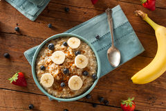 Homemade Healthy Steel Cut Oatmeal Royalty Free Stock Images